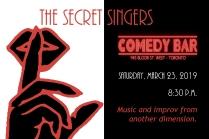 The Secret Singers postcard - March 23 - final